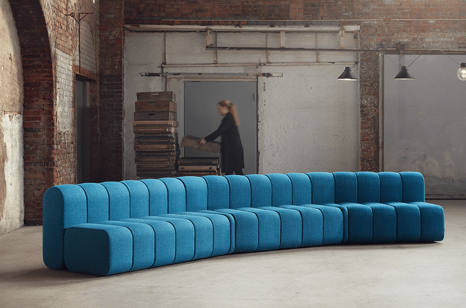 blå station sofa bob