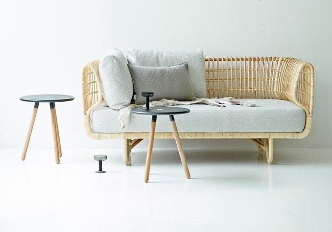 nest kurveflet sofa fra cane-line
